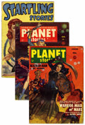 Pulps:Science Fiction, Planet Stories Pulp Group (Fiction House, 1950-52) Condition:Average VG....