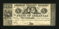 Obsoletes By State:Arkansas, (Little Rock), AR- State of Arkansas Treasury Warrant $10 May 7, 1862 Criswell 54A. ...