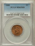 Indian Cents: , 1888 1C MS63 Red and Brown PCGS. PCGS Population (117/215). NGCCensus: (62/227). Mintage: 37,494,416. Numismedia Wsl. Pric...