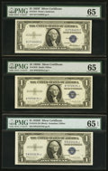 Small Size:Silver Certificates, $1 1935 Silver Certificates Ten Examples PMG Graded.. ... (Total: 10 notes)
