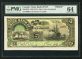 Canadian Currency: , Saint John's, NF- Union Bank of Newfoundland $5 May 1, 1889 Ch. #750-16-04P Face Proof. ...