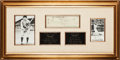 Autographs:Checks, 1951 Ty Cobb Signed Check Display with Pete Rose SignedPhotograph....