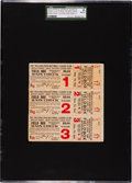 Baseball Collectibles:Tickets, 1915 World Series Games One, Two and Three Full Tickets--IncludingBabe Ruth's First W.S. Game!...