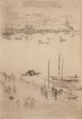 Fine Art - Work on Paper:Print, JAMES ABBOTT MCNEILL WHISTLER (American, 1834-1903). UprightVenice (From The Second Venice Set), 1879-1880. Etching on ...
