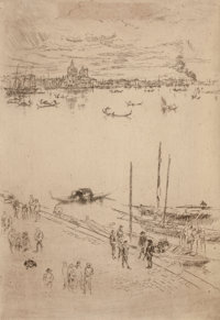JAMES ABBOTT MCNEILL WHISTLER (American, 1834-1903) Upright Venice (From The Second Venice Set), 1879-1