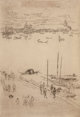 JAMES ABBOTT MCNEILL WHISTLER (American, 1834-1903) Upright Venice (From The Second Venice Set), 1879-1880 Etching on...