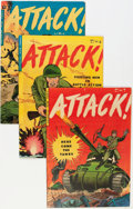 Golden Age (1938-1955):War, Attack #2-5 and 7 Group (Youthful Magazines/Trojan, 1952-53)Condition: Average FN/VF.... (Total: 5 Comic Books)