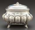 Silver Holloware, Continental:Holloware, AN A. KEMPFE GERMAN SILVER AND SILVER GILT JUDAICA ETROG BOX WITHGILT INTERIOR . A. Kempfe, Magdeburg, circa 1895. Marks: (...