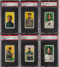 Baseball Cards:Lots, 1909-11 T206 White Border PSA Graded Collection (6). ...