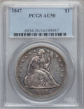 Seated Dollars, 1847 $1 AU50 PCGS....