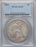 Seated Dollars, 1850 $1 XF45 PCGS....