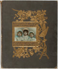 Books:Americana & American History, [Victoriana]. Photo Album filled with Victorian Ephemera. Nd.Measures 16 x 13 inches. A colorful collection of Victorian ad...
