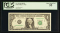 Solid Serial Number H66666666C Fr. 1913-H $1 1985 Federal Reserve Note. PCGS Choice About New 55