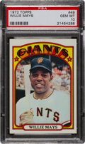 Baseball Cards:Singles (1970-Now), 1972 Topps Willie Mays #49 PSA Gem Mint 10....