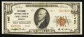 National Bank Notes:Missouri, Columbia, MO - $10 1929 Ty. 2 The Exchange NB Ch. # 1467. ...