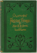 Books:Literature Pre-1900, Harriet Beecher Stowe. Oldtown Fireside Stories. Boston:Osgood, 1872. Octavo. 199 pages. Illustrated frontis and pl...