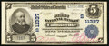 National Bank Notes:Alabama, Collinsville, AL - $5 1902 Plain Back Fr. 606 The First NB Ch. # (S)11337. ...