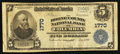 National Bank Notes:Missouri, Columbia, MO - $5 1902 Plain Back Fr. 601 The Boone County NB Ch. #1770. ...