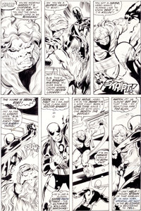 John Byrne and Dan Green Iron Fist #14 Page 17 First Sabretooth Story Original Art (Marvel, 1977)
