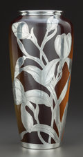 Ceramics & Porcelain, American:Modern  (1900 1949)  , A LENOX SILVER OVERLAY PORCELAIN VASE . Lenox China Corporation,Trenton, New Jersey, circa 1900. 10-1/4 inches high (26.0 c...