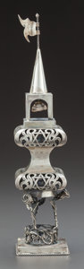 Silver Holloware, Continental:Holloware, A RUSSIAN SILVER JUDAICA SPICE TOWER . Maker unidentified, circa1900. Marks: 84, MP (in Cyrillic), 1896. 9-1/2inch...