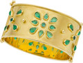 Estate Jewelry:Bracelets, Temple St. Clair Emerald, Gold Bracelet. ...