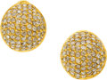 Estate Jewelry:Earrings, Yossi Harari Diamond, Gold Earrings. ...