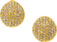 Yossi Harari Diamond, Gold Earrings