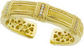Estate Jewelry:Bracelets, Judith Ripka Diamond, Gold Bracelet. ...