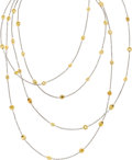 Estate Jewelry:Necklaces, Michael Beaudry Diamond, Gold Necklace. ...