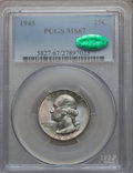 Washington Quarters, 1945 25C MS67 PCGS. CAC....