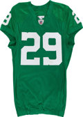 Football Collectibles:Uniforms, 2010 Nate Allen Game Worn, Unwashed Philadelphia Eagles Jersey and Pants - Team LOA....