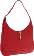 Luxury Accessories:Bags, Hermes 31cm Rouge Vif Togo Leather Trim II Bag with Palladium Hardware . ...