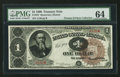 Large Size:Treasury Notes, Fr. 347 $1 1890 Treasury Note PMG Choice Uncirculated 64.. ...