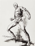 Original Comic Art:Sketches, Rudy Nebres Doc Savage Sketch Original Art (1976)....