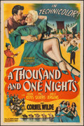 "Movie Posters:Adventure, A Thousand and One Nights (Columbia, 1945). One Sheet (27"" X 41"")Style B. Adventure.. ..."