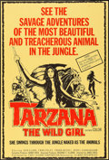 "Movie Posters:Adventure, Tarzana, The Wild Girl (First Leisure, 1969). One Sheet (27"" X40""). Adventure.. ..."