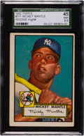 Baseball Cards:Singles (1950-1959), 1952 Topps Mickey Mantle #311 SGC 45 VG+ 3.5. ...