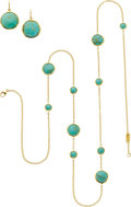 Estate Jewelry:Suites, Ippolita Turquoise, Gold Jewelry Suite. ... (Total: 2 Items)