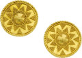 Estate Jewelry:Earrings, Gloria Natale 22k Gold Earrings . ...