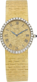 Estate Jewelry:Watches, Piaget Lady's Diamond, Gold Wristwatch. ...