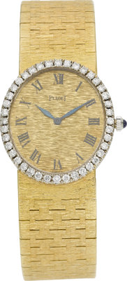 Piaget Lady's Diamond, Gold Wristwatch
