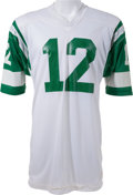 Football Collectibles:Uniforms, 1973-75 Joe Namath Game Worn New York Jets Jersey - with Provenance from Former Jets Ball Boy....