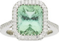 Estate Jewelry:Rings, Jewel Genie Tourmaline, Diamond, Platinum Ring. ...