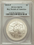 Modern Issues, 2010-P $1 Boy Scouts MS70 PCGS. PCGS Population (2644). NGC Census:(5523). Numismedia Wsl. Price for problem free NGC/PCG...