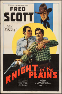 """Knight of the Plains (Spectrum, 1938). One Sheet (27"""" X 41""""). Western"""
