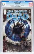 Modern Age (1980-Present):Horror, Walking Dead #9 (Image, 2004) CGC NM 9.4 White pages....