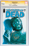 Modern Age (1980-Present):Horror, Walking Dead #24 Signed by Robert Kirkman and Tony Moore (Image,2005) CGC Signature Series NM+ 9.6 White pages....