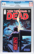 Modern Age (1980-Present):Horror, Walking Dead #55 (Image, 2008) CGC NM/MT 9.8 White pages....