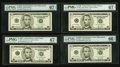 Small Size:Federal Reserve Notes, $5 FRNs Series 2006 PMG Graded.. ... (Total: 13 notes)